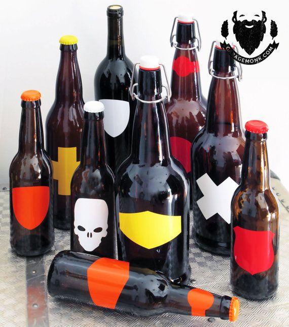 Vinyl Labels Home Brew Wine Label Beer Bottle By GarageMonkcom - Vinyl stickers for glass bottles