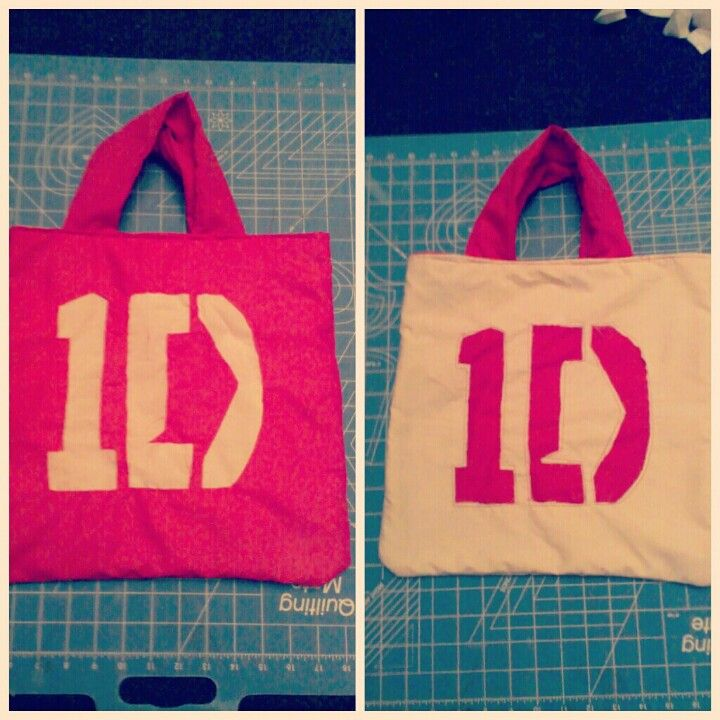 Reversible One Direction tote bag