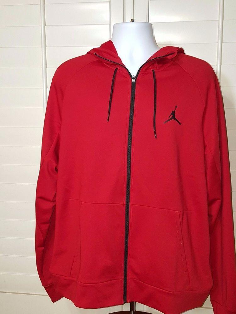 8cb25884f6f Jordan 360 Fleece Full Zip Hoodie Mens Red Therma-Fit Hoody Size XL New wth  Tags #Jordan #Hoodie