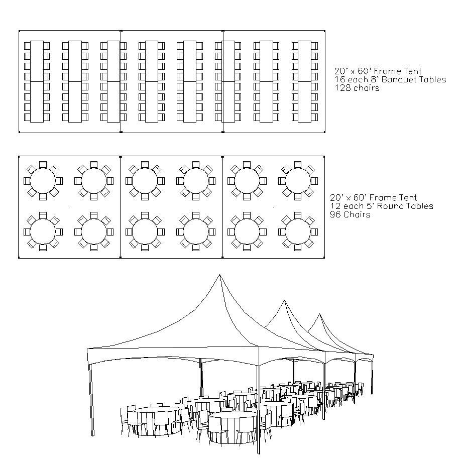 medium resolution of 20 x 60 tent layout google search