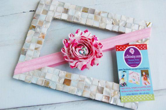 Valentine Inspired Modern Hearts Shabby Light Pink & by Unikbaby, $3.00