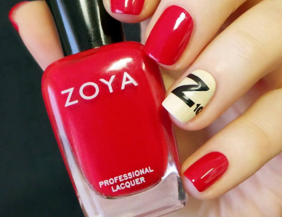 Scrabble Nail Art Featuring Gia Jacqueline Raven Nails Red