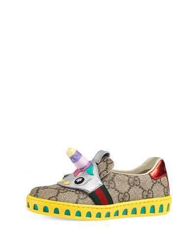 Gucci Gg Supreme Canvas Sneaker W Unicorn Toddler Sizes