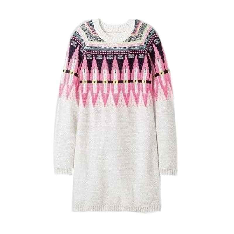Cat Jack Girls Xs   X Grey Tribal Long Sleeve Sweater Dress Ebay Fashion