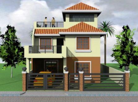 Model floors front view also exterior design house plans rh pinterest