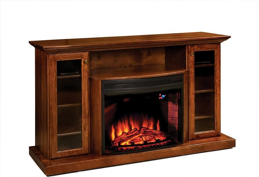"Amish 64"" Electric Fireplace Entertainment Center ..."