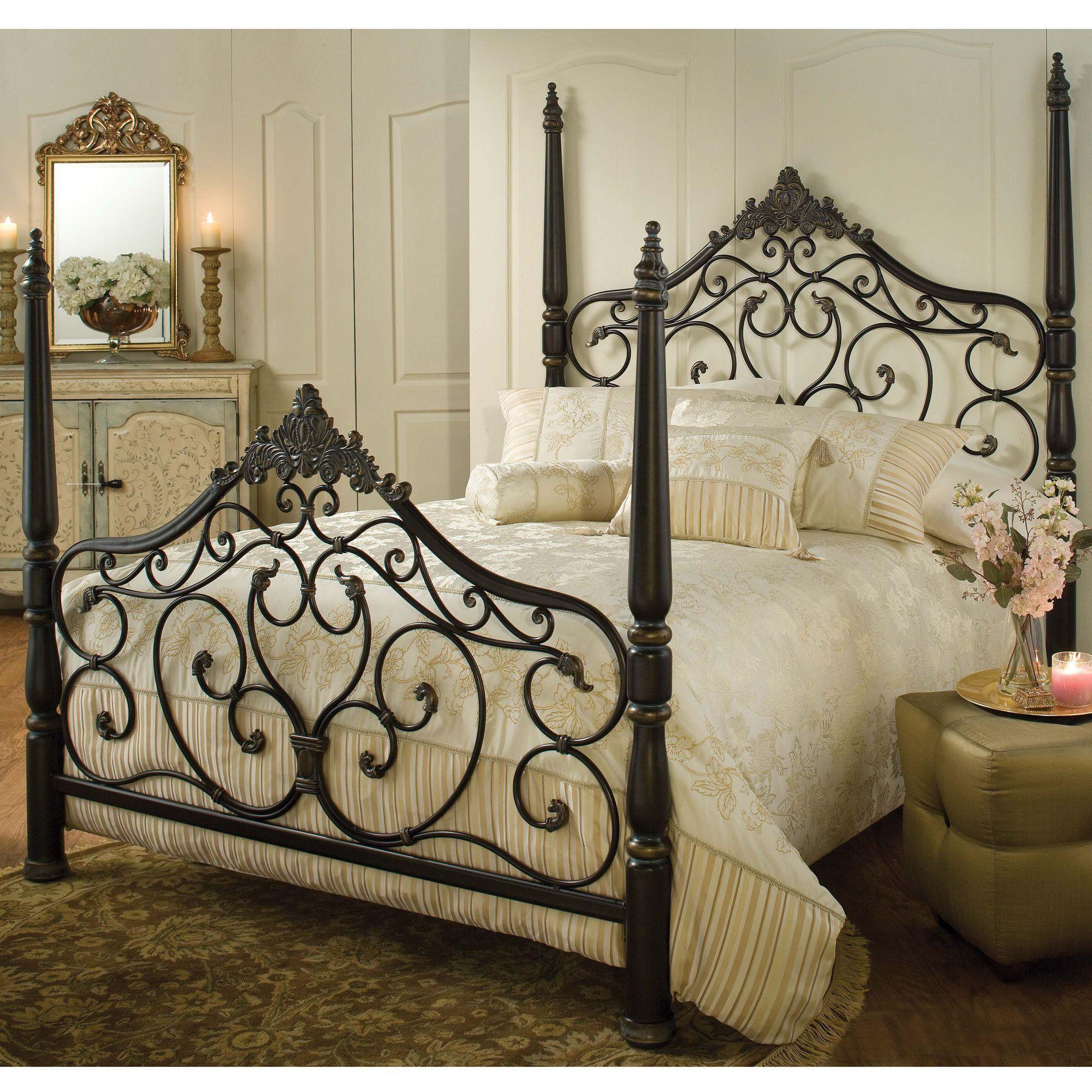 Schmiedeeisen Eisen Metall Ornament Bett Bilder - Schlafzimmer ...
