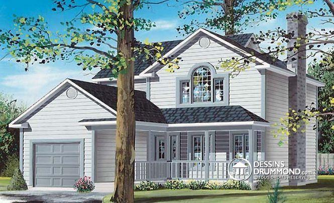 Plan de maison no W2724 de dessinsdrummond architecture et - site pour plan de maison