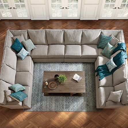Dune Upholstered Eight Piece Sectional In Driscoll Marble