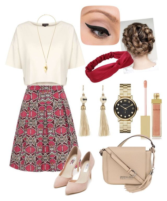 """""""Untitled #15"""" by suadalghanmi ❤ liked on Polyvore featuring beauty, Topshop, Hallhuber, Nly Shoes, Lanvin, Chloé, Marc by Marc Jacobs, LORAC, AERIN and Kenneth Cole"""