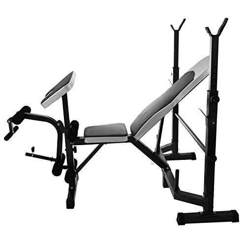 LOVSHARE Multi Station Weight Bench Press Adjustable Weight Bench Set  Strength Standard Weight Bench Press