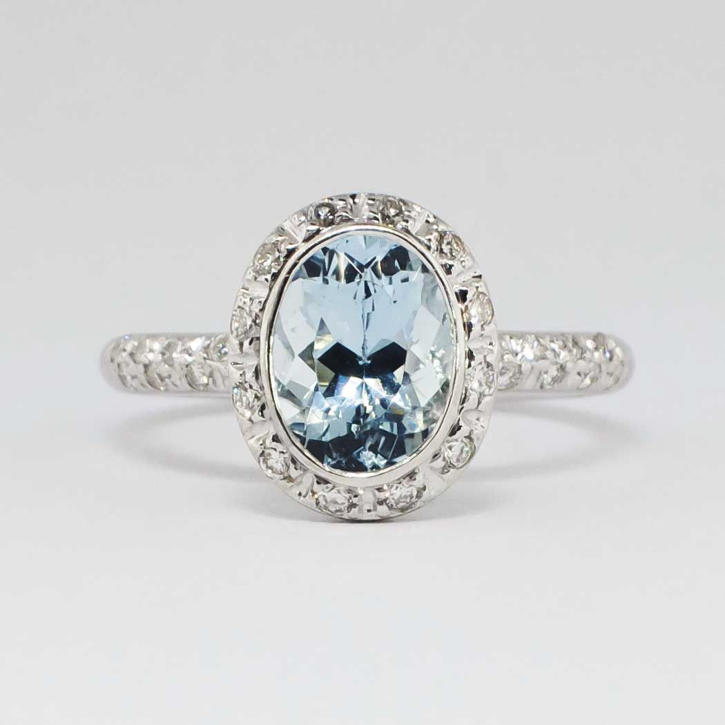 Perfect 2 25ct T W Estate Bailey Banks Biddle Aquamarine Diamond Ring 18k Antique Estate Jewelry Fantasy Jewelry Antique Rings Antique Engagement Rings