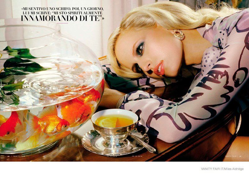 Karolina Kurkova Gets Cinematic for Miles Aldridge in Vanity Fair Italy