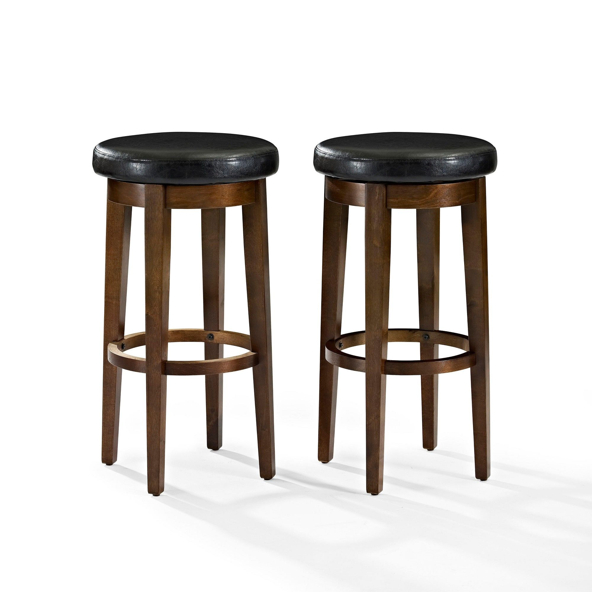 Mitchell Swivel Bar Stool Mahogany Brown Black Set Of 2 Crosley Swivel Bar Stools Swivel Counter Stools Bar Stools