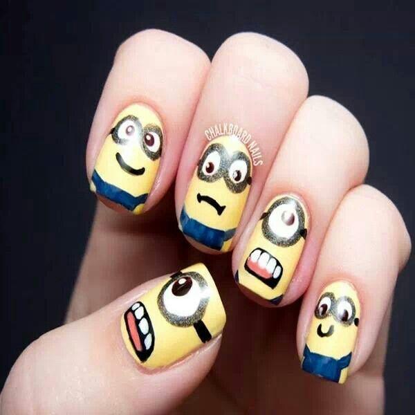 Minion Nails | All Polished Up!! | Pinterest | Decoración de uñas y ...