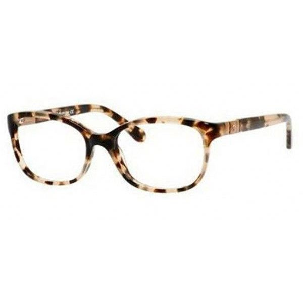 ed521ee5b38a Kate Spade Josette 0ESP 00 Eyeglasses (10,250 INR) ❤ liked on Polyvore  featuring accessories, eyewear, eyeglasses, camel tortoise, tortoise shell  glasses, ...