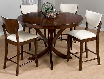 Jofran 433 54 Satin Counter Height Round Dining Table
