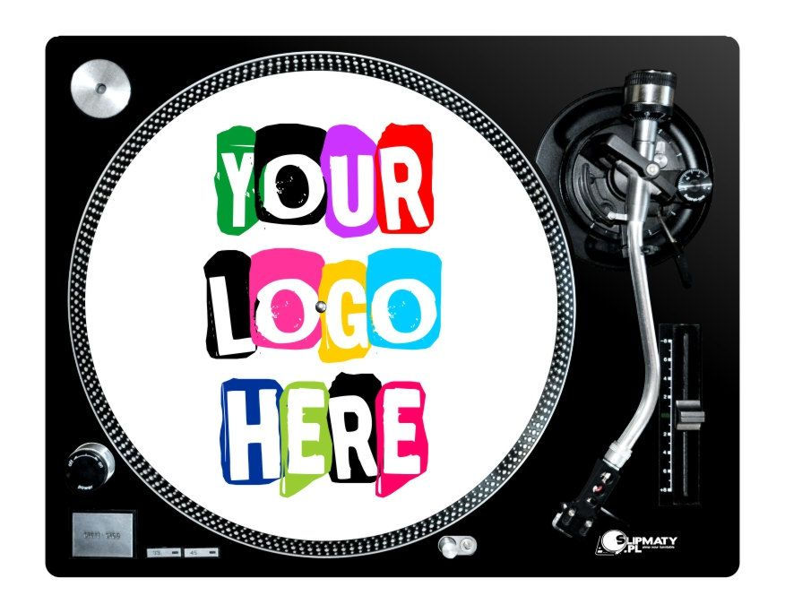 Custom slipmat best quality full color printed with your own design! your logo music gifts musicians vinyl record slipmats mat  myslipmats