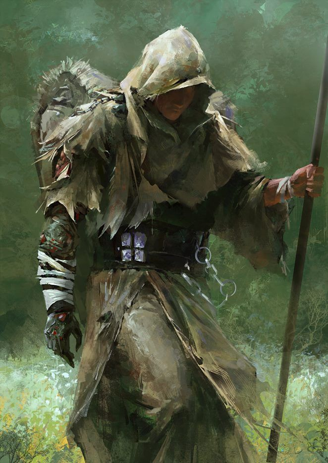 Image result for fantasy cloaked druid rogue