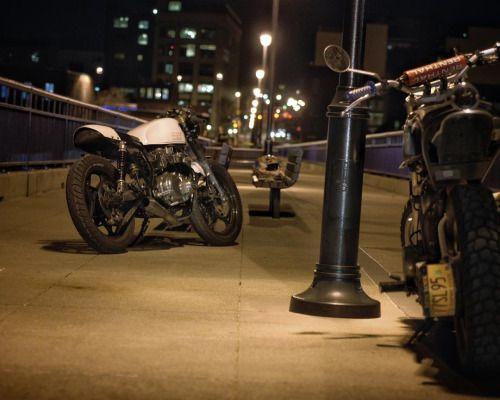 Late night explorations #caferacer #caferacerxxx... #overbold #caferacer #motorcycle #bratstyle #bobber #custom #bcn #bikes #motorbike #bespoke #handmade #caferacer #overboldmotorco #tracker #streettracker #flattracker #honda #yamaha #suzuki #ossa #triumph #bmw #guzzi #motoporn #lifestyle #cafexxx #dirttrack #flattracker