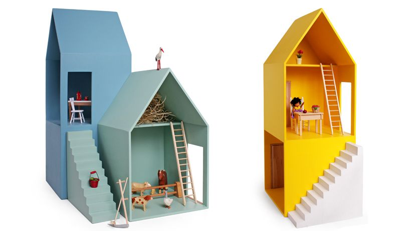 dollhouse wood hase weiss m bel und spiele f r kinder. Black Bedroom Furniture Sets. Home Design Ideas
