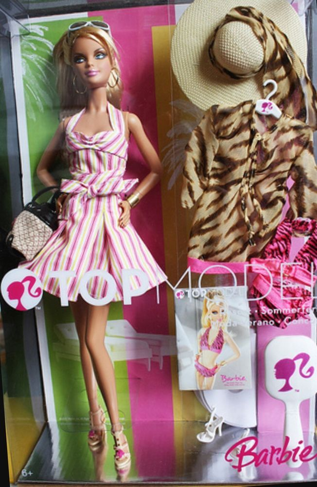 Barbie Doll Top Model Resort New In Box Nrfb Gold Special Edition Collectable Barbie Top Barbie Barbie Dolls