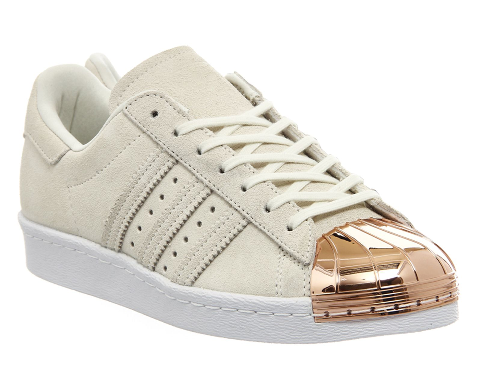 adidas superstar metal toe w rose gold toe white