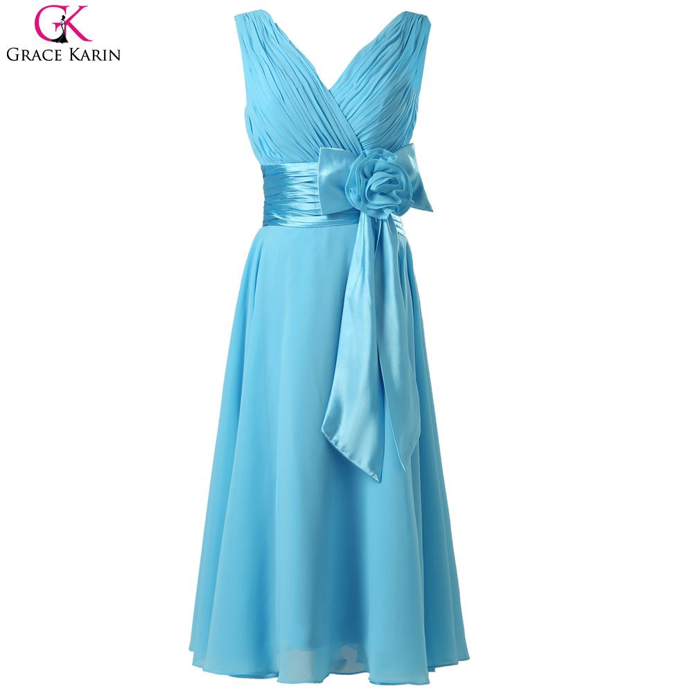 Click to buy ucuc grace karin short prom dresses v neck sleeveless