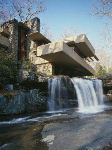 'Fallingwater, State Route 381, Pennsylvania' Photo - Frank Lloyd Wright | AllPosters.com