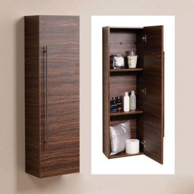 Beau Aspen™ 120cm Walnut Wall Mounted Storage Unit