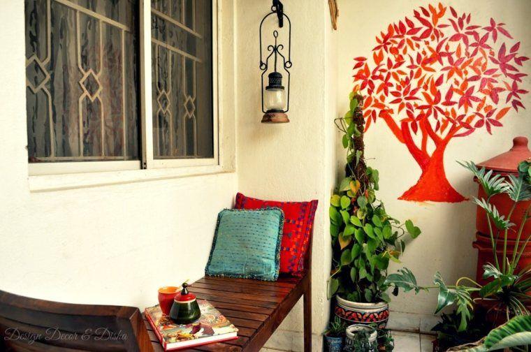 Deco terras en balkon in de geest van de herfst deco indian home