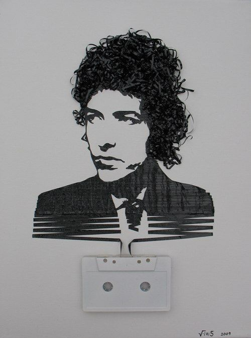 Cassette Tape Art by Erika Iris Simmons' series titled Ghost in the Machine