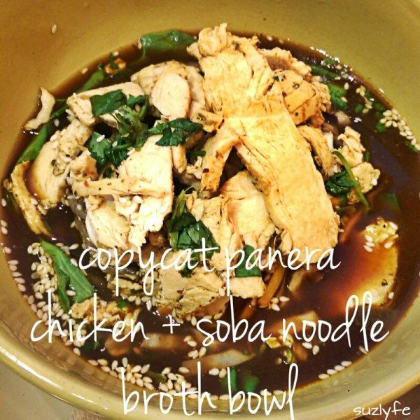 Make or buy with my review of the new Panera Chicken Soba ...