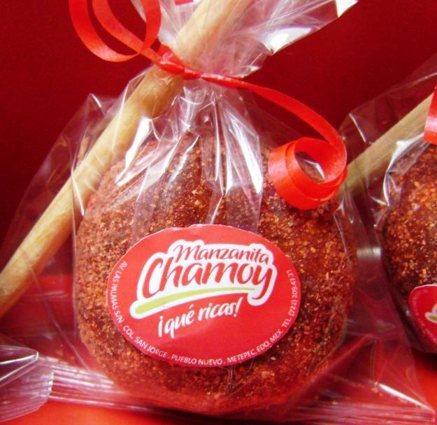 Manzana Cubierta Con Chamoy