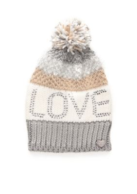 d7ae48dceaf18d Betsey Johnson Love Pom Beanie Hat | Products | Beanie hats, Hats ...