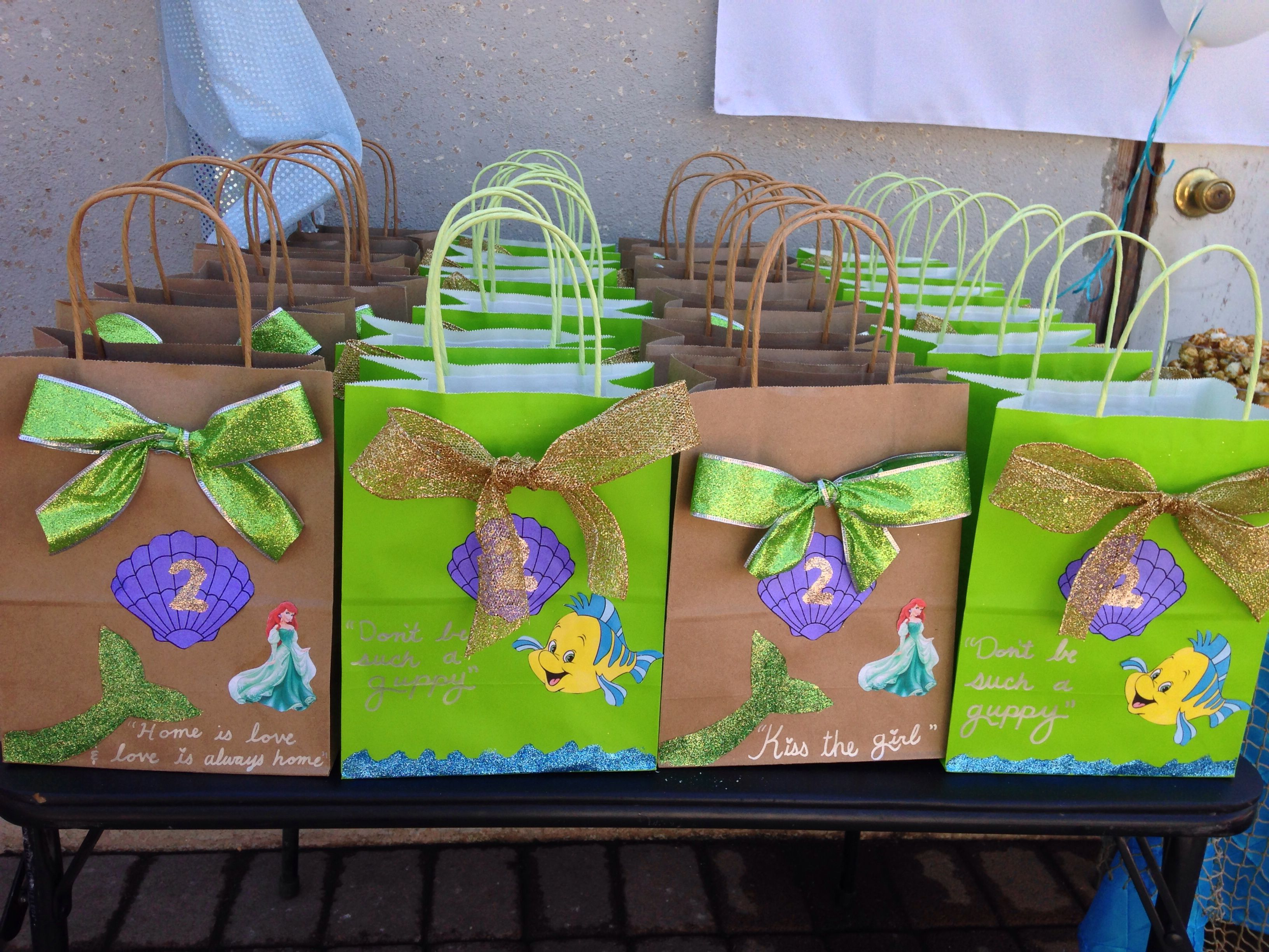 Little Mermaid Candy Bags Jades Little Mermaid Party In 2019
