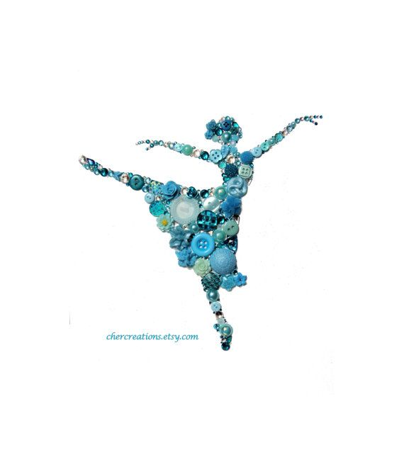 BALLERNIA DANCER 8x10 Button Art Button Artwork by CherCreations