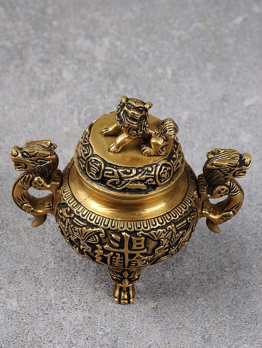 China Antique Collection Copper Incense Burner Crafts Accessories