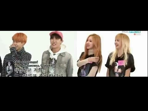 BTS & BLACKPINK on WEEKLY IDOL SHOW TOGETHER ♡ - YouTube