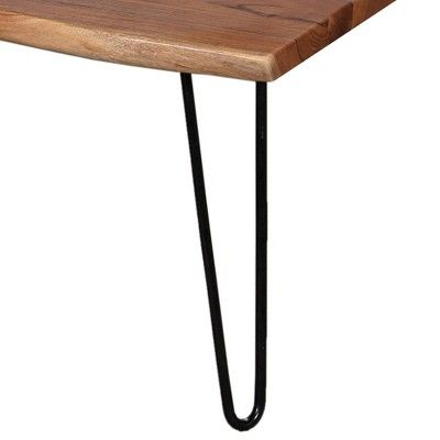 Alaterre Furniture 48 Hairpin Natural Brown Live Edge Large