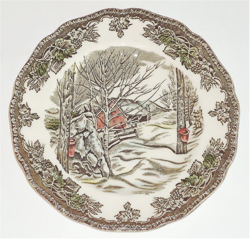 """Set of 4 Johnson Bros /""""Sugar Maples/"""" The Friendly Village Bread /& Butter Plates"""