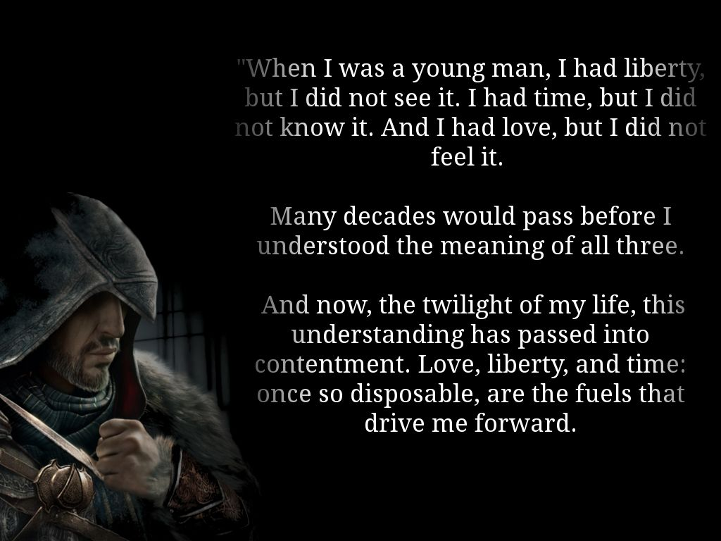 Some Of The Best Gaming Quotes Fix Assassins Creed Quotes Creed Quotes Assassins Creed