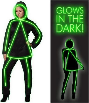 GlowGirl Adult Costume   Electroluminescent wire, Costumes and ...