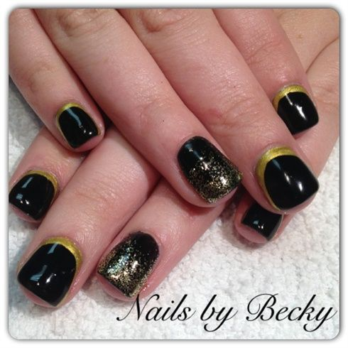 gold border new years nails nail art gallery by nailsmagcom check out wwwmynailpolishobsessioncom for more nail art ideas