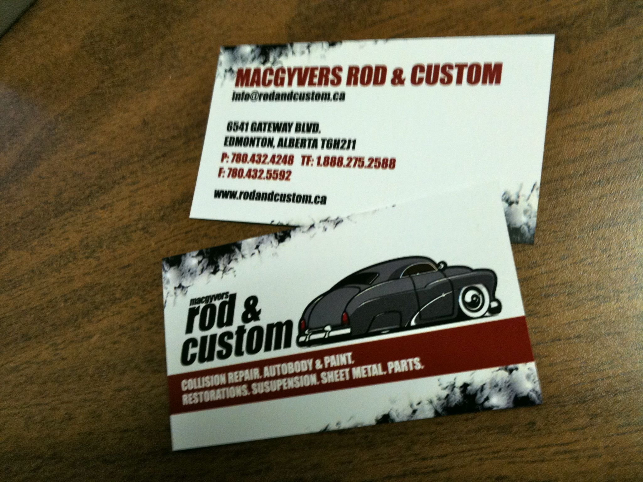 rod custom business cards