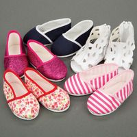 SNAZZY SUMMER 18 INCH DOLL SHOES SET