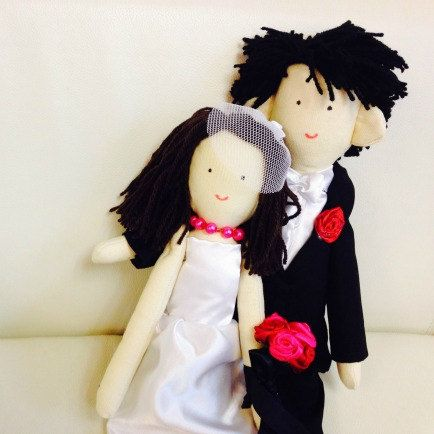 Unique Wedding Gift For Couple Handmade Dolls Just By Apacukababa