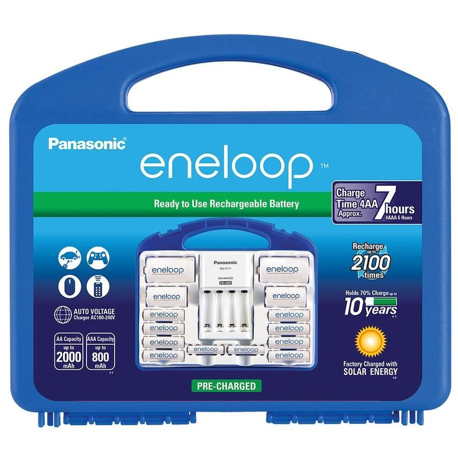 Panasonic Eneloop Nimh Rechargeable Batteries Rechargeable Nickel Metal Hydride Nimh Aa Batteries 12 Pack Lowes Com Rechargeable Batteries Panasonic Aaa Battery Charger