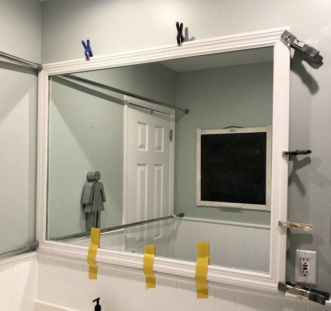 Framed Bathroom Mirror in 2018 Farmhouse Fun! Pinterest