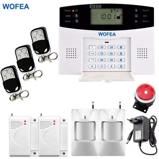 Russian Spanish English French Smart Home Security GSM Alarm System - installer une alarme maison